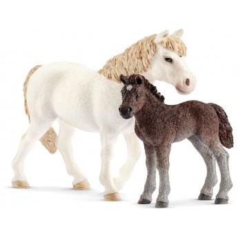 Набор Schleich кобыла Пони с жеребенком (42423)
