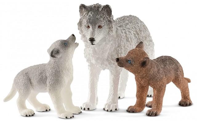 Набор Schleich Волчица с волчатами (42472)
