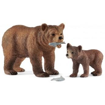 Набор Schleich медведь Гризли с детенышем (42473)