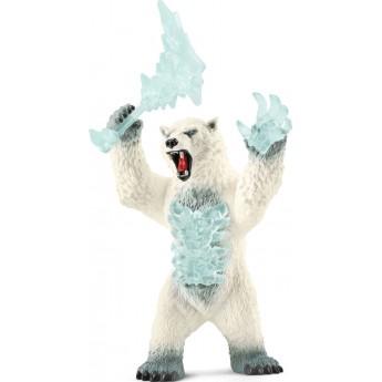 Фигурка Schleich Медведь снежной бури с оружием (42510)