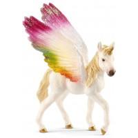 Фигурка Schleich жеребенок Крылатый радужный единорог (70577)