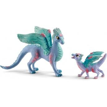 Набор фигурок Schleich Bayala Цветочный дракон с дракончиком (70592)