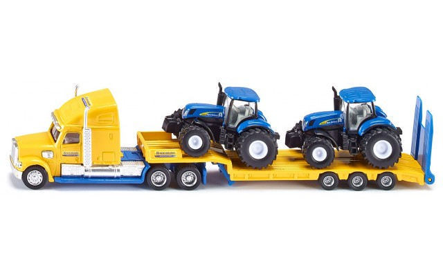 Игрушка Siku тягач с тракторами New Holland (1805)