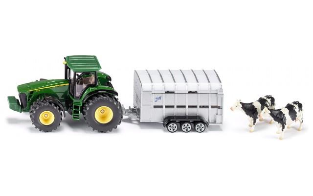 Модель Siku трактор John Deere с прицепом для животных (1956)